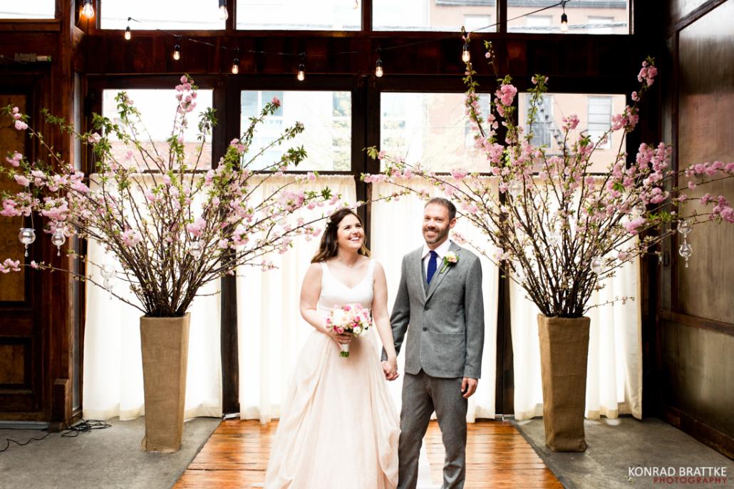 Spring Brooklyn Winery Wedding