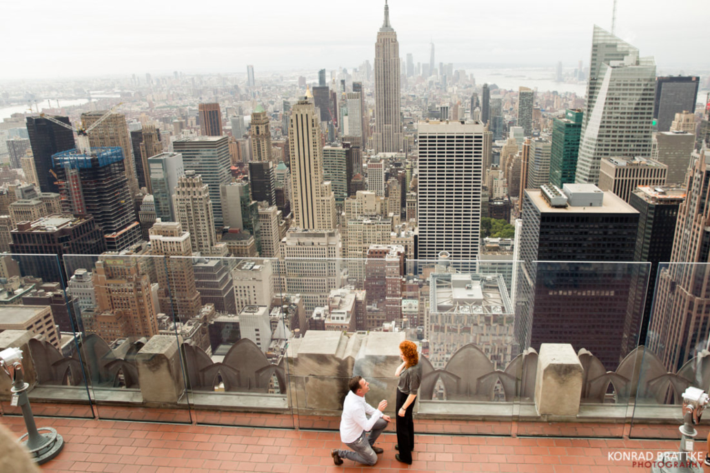 proposal on top of the rock