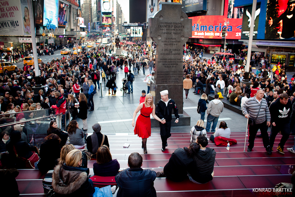 Iconic Times Square Kiss
