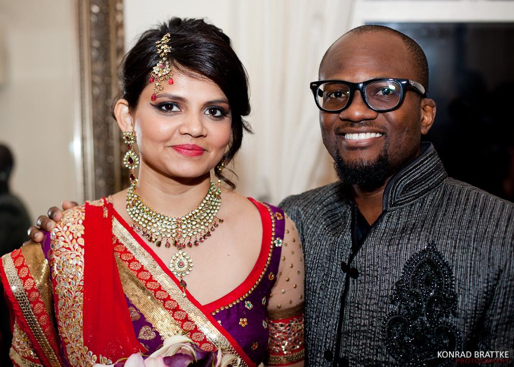 Indian and Nigerian wedding celebration