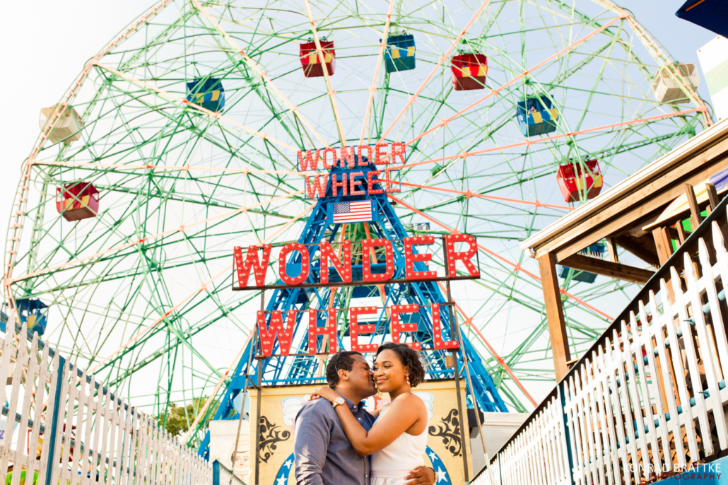 Coney Island Engagement Photo Shoot